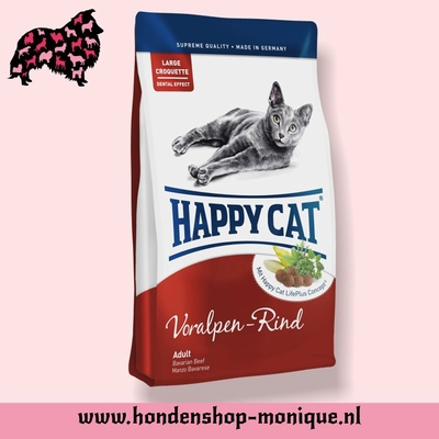 Happy Cat Supreme Indoor  Voralpen Rind 4  kg.