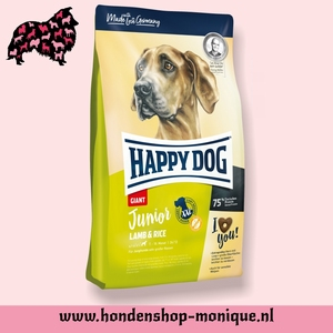 Happy dog junior lamb and rice 4 kg.